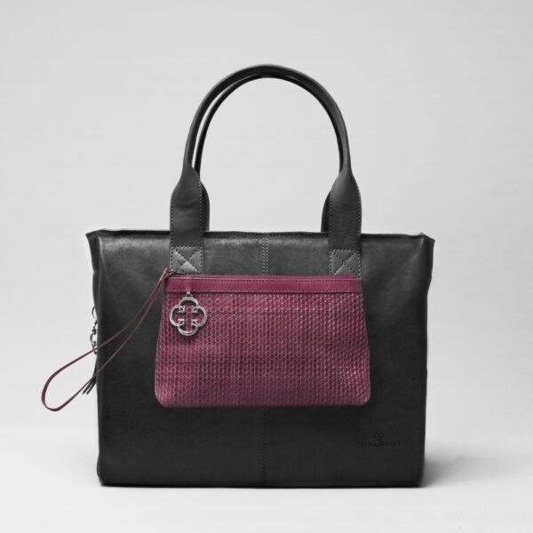 chalrose-clutch-bordeaux-city-bag-black-matt