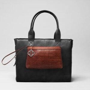 Clutch Dark Brown-City Bag Waxy Black
