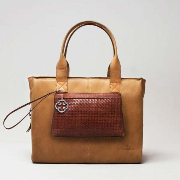 Clutch Dark Brown-City Bag Camel
