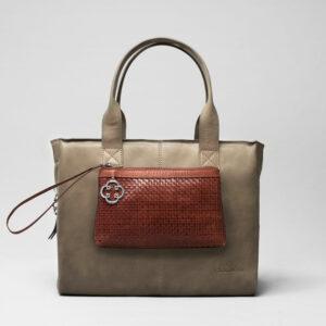 Clutch Dark Brown -City Bag Elephant Grey
