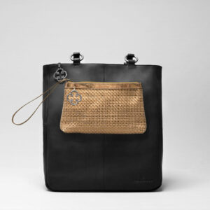 Clutch Gold - Back Shopper Waxy Black