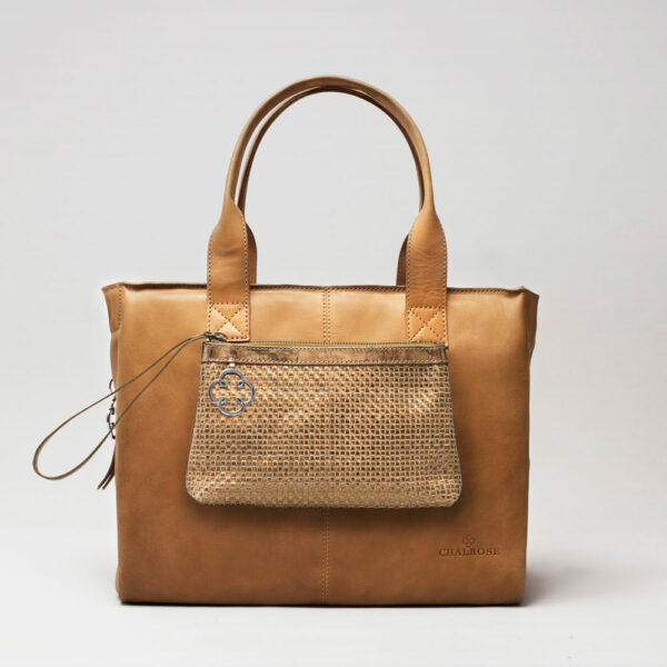 Clutch Gold-City Bag Camel