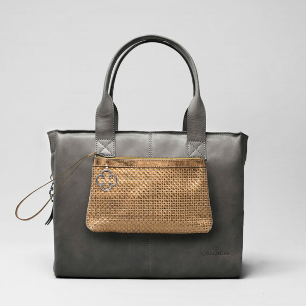 Clutch Gold-City Bag Dark Grey
