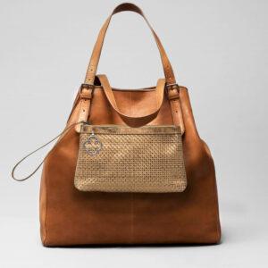 Woven Click Pouch Gold - Doppio Bag