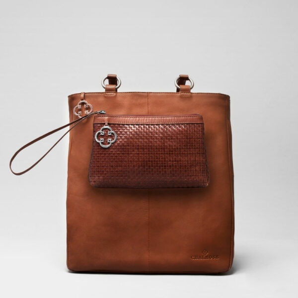 Clutch Tan - Back Shopper Cognac