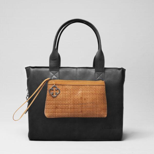 chalrose-clutch-tan-city-bag-waxy-black