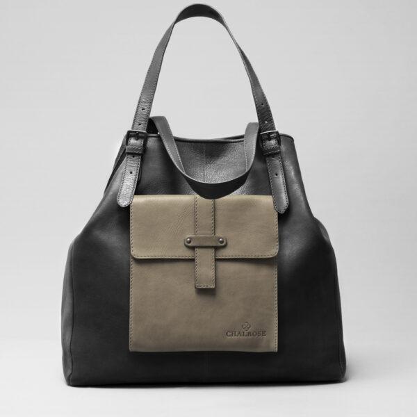 chalrose-crossbody-elephant-grey-doppio-black-matt