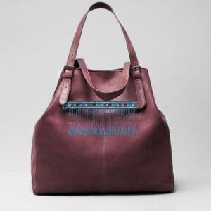 Embroidered Tassel Strap Blue - Doppio Bordeaux