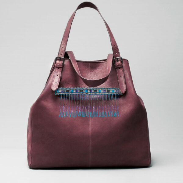 Embroidered Tassel Strap Blue - Doppio Bordeaux