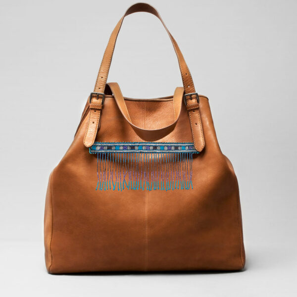 Embroidered Tassel Strap Blue - Doppio Tan