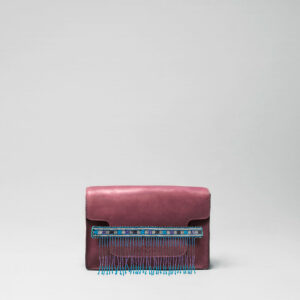 Embroidered Tassel Strap Blue Tones-Piccolo Bordeaux