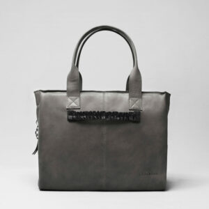 Ruffle Click Black-City Bag Dark Grey