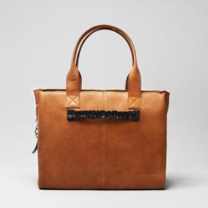 Ruffle Click Black -City Bag Tan