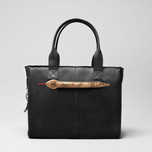 Snake Click-City Bag Waxy Black