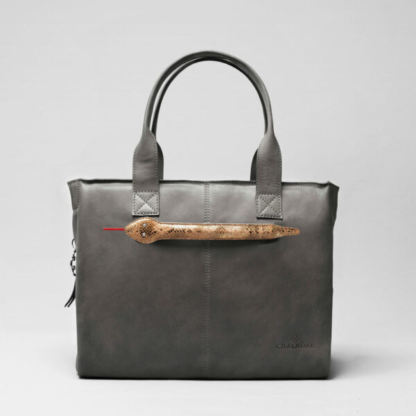 Snake Click-City Bag Dark Grey