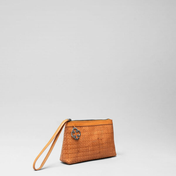 Woven Click Pouch Tan