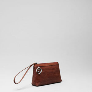 Woven Click Pouch Chestnut