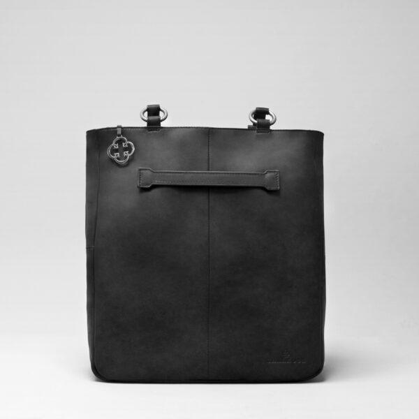 chalrose-back-shopper-black-matt zwarte rugtas
