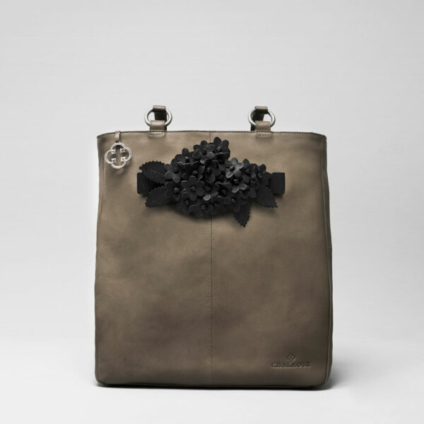 Bouquet Click Black Matt-Back Shopper Elephant Grey