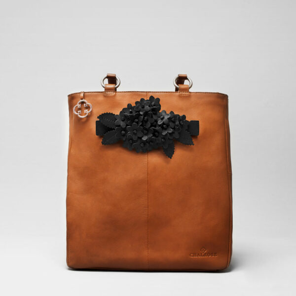 Bouquet Click Black Matt-Back Shopper Tan