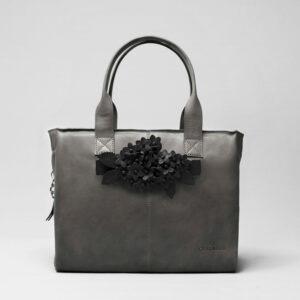 Bouquet Click Black Matt-City Bag Dark Grey