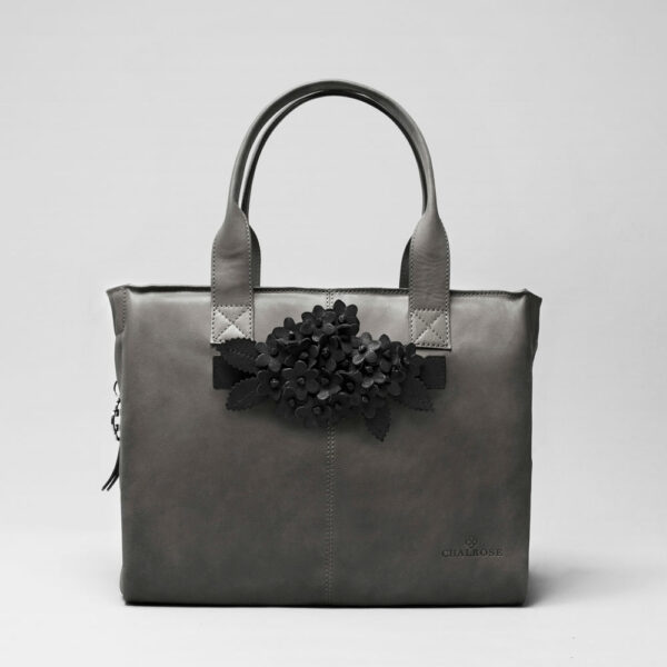 Bouquet Click Black Matt-City Bag Dark Grey