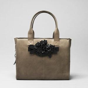 Bouquet Click Black Matt-City Bag Elephant Grey