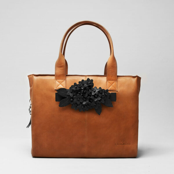 Bouquet Click Black Matt-City Bag Tan