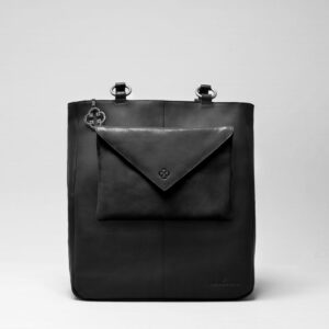 Envelop Clutch Black Matt-Back Shopper Waxy Black