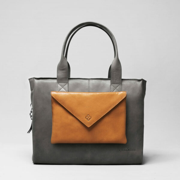 Envelop Clutch Camel-City Bag Dark Grey