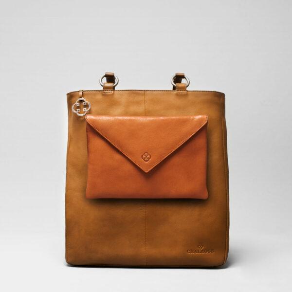 Envelop Clutch Tan-Back Shopper Camel