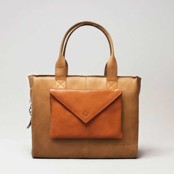 Envelop Clutch Tan-City Bag Camel