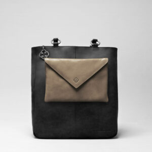 Envelop Clutch Elephant Grey-Back Shopper Black Matt