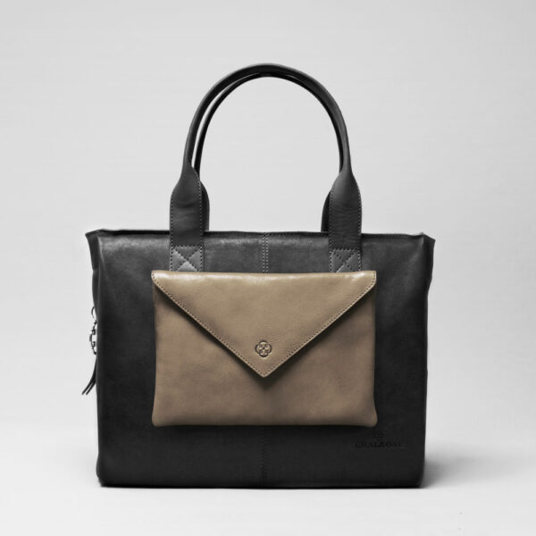 Envelop Clutch Elephant Grey-City Bag Black Matt