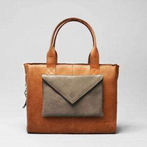 Envelop Clutch Elephant Grey-City Bag Tan