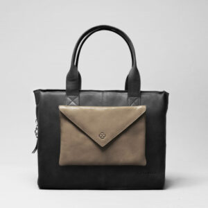 Envelop Clutch Elephant Grey-City Bag Waxy Black