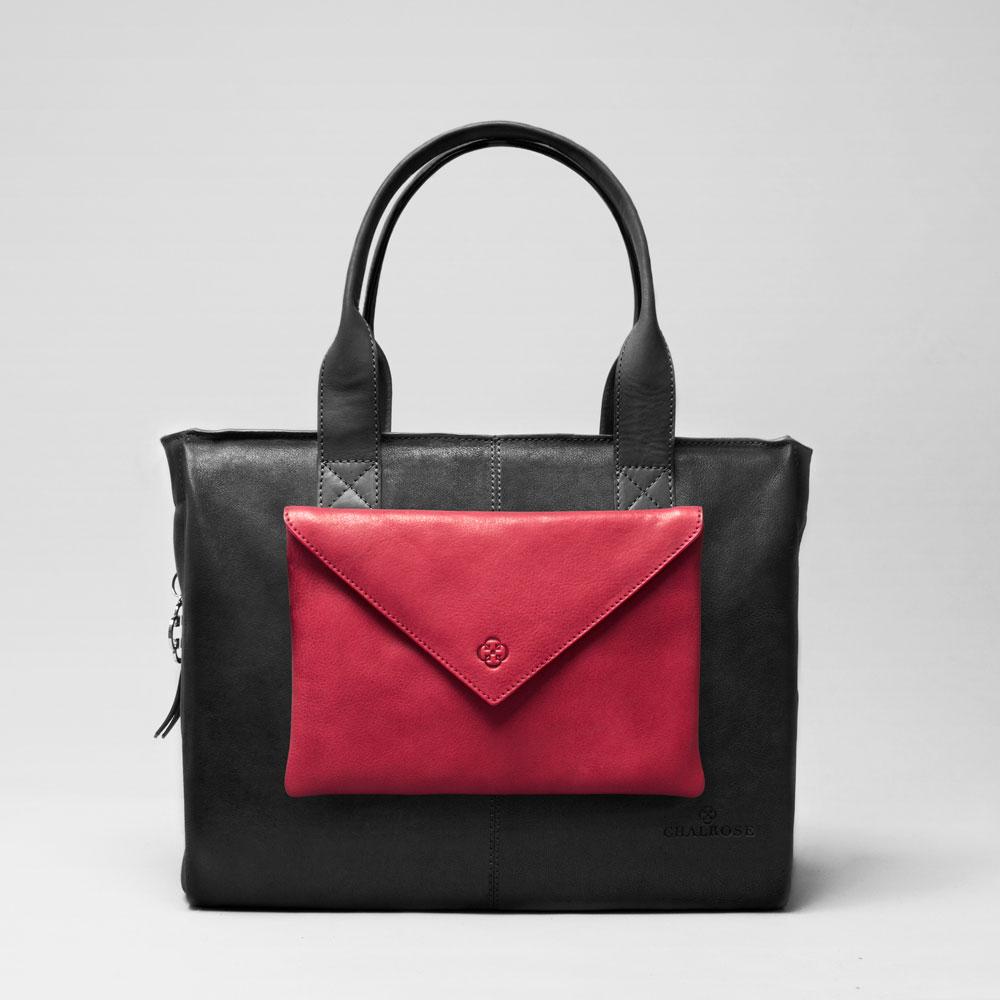 Envelop Clutch Red-City Bag Black Matt