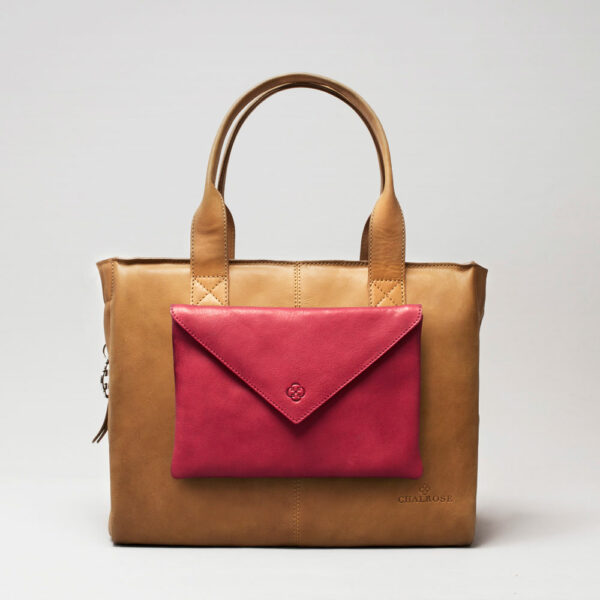 Envelop Clutch Red-City Bag Camel