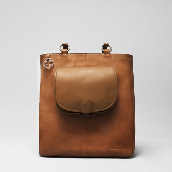 Round Flap Bag Blond - Back Shopper Tan