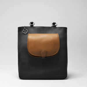 Round Flap Bag Blond - Back Shopper Waxy Black