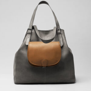 Round Flap Bag Blond - Doppio Dark Grey
