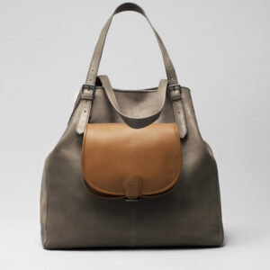Round Flap Bag Blond - Doppio Elephant Grey