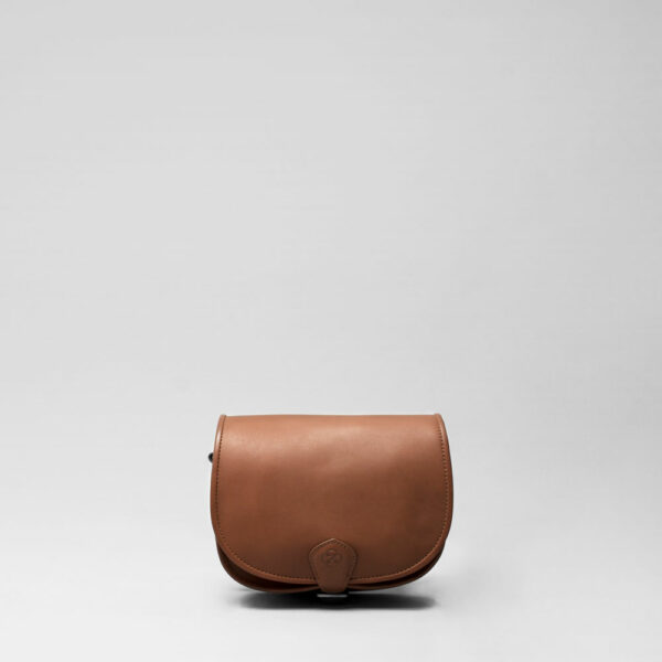 Round Flap Bag Cognac