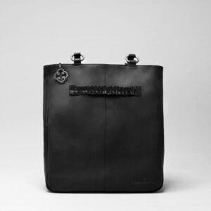 Ruffle Click Black-Back Shopper Waxy Black