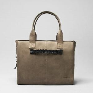 Ruffle Click Black-City Bag Elephant Grey