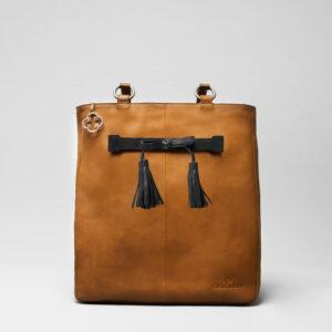 Tassel Bow Black - Back Shopper Camel