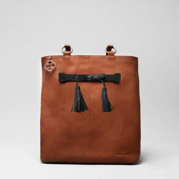 Tassel Bow Black - Back Shopper Cognac