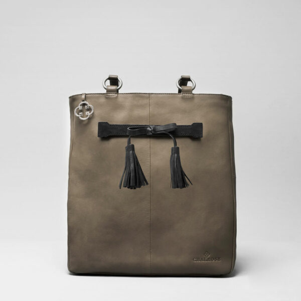 Tassel Bow Black - Back Shopper Elephant Grey