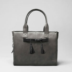 Tassel Bow Black - City Bag Dark Grey