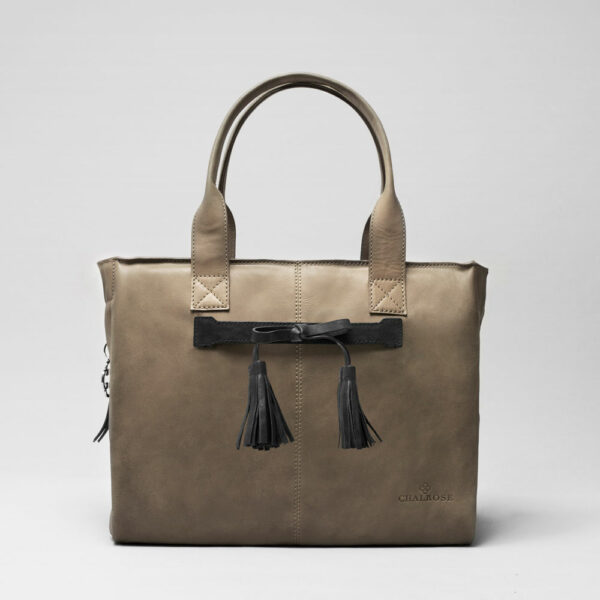 Tassel Bow Black - City Bag Elephant Grey